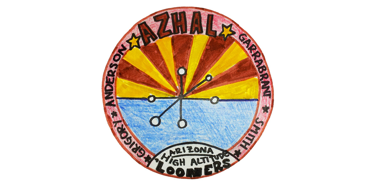 AZHAL-1 mission patch