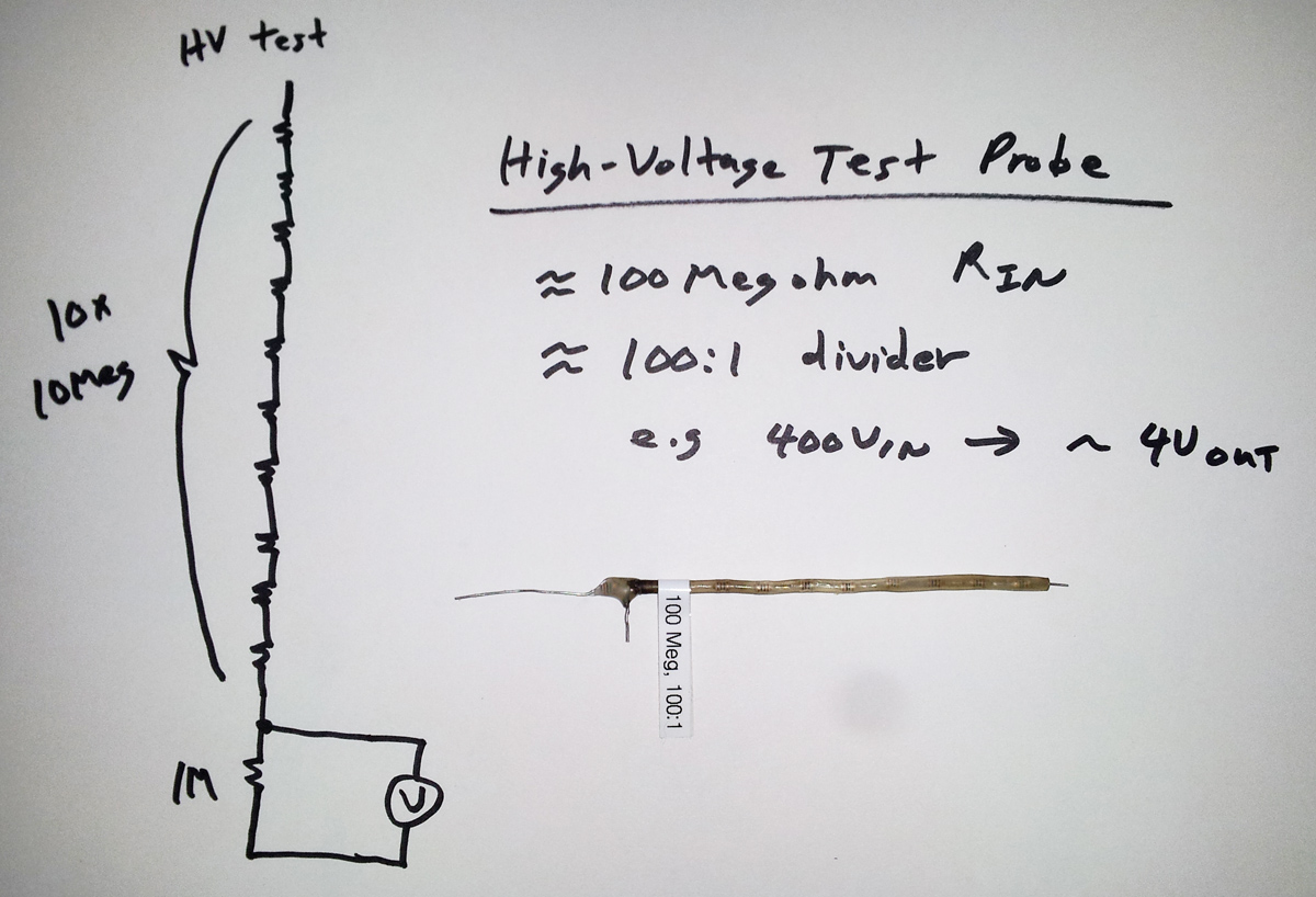 high voltage test probe design