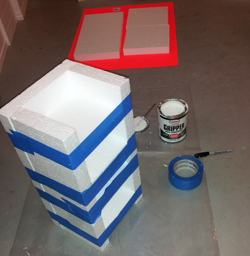 glueing styrofoam with glidden gripper