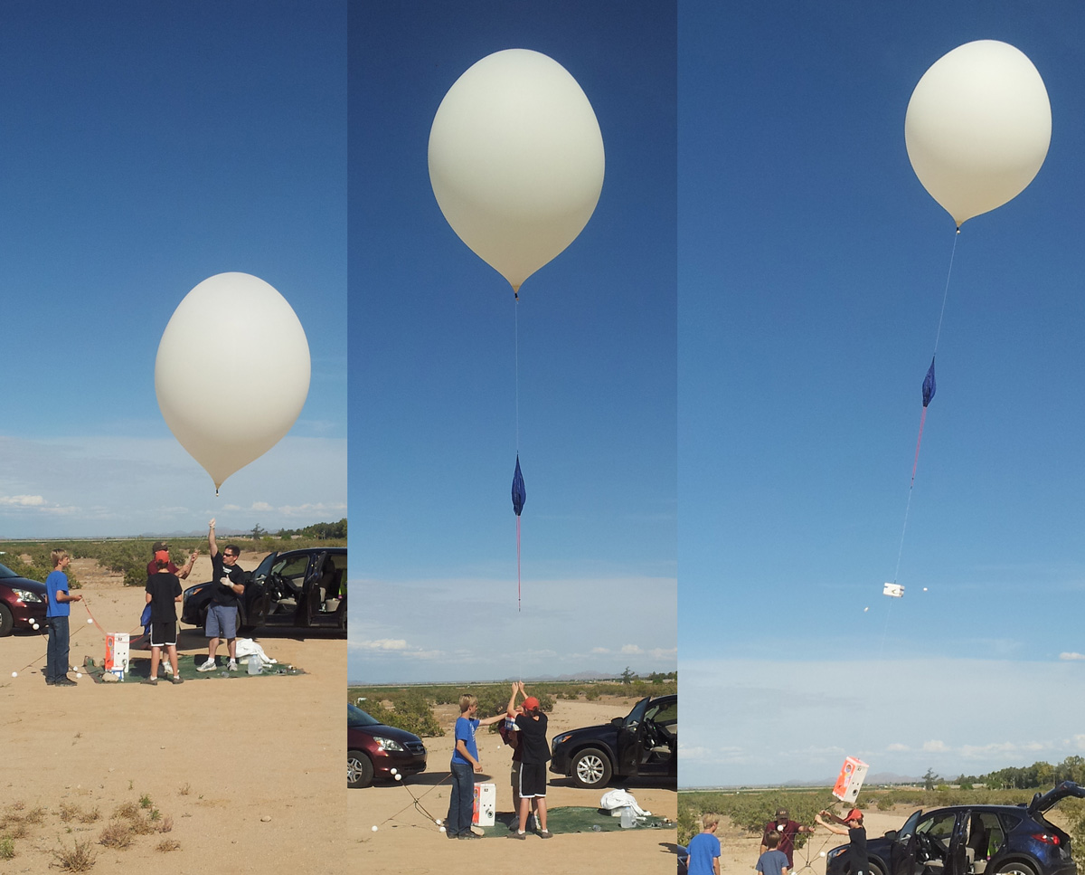 launching balloon